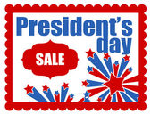 President's day sale banner — Vector de stock