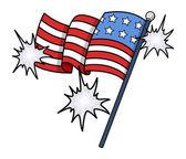 Shiny USA Flag Vector Clip-art - 4th of july celebration — Stock Vector