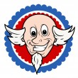Vector de stock : Funny Uncle Sam Face Cartoon Vector