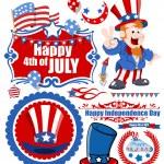 Vector design kit for USA freedom celebration — Stock Vector #30968885
