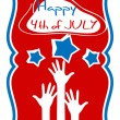 Happy 4th of july greeting vector — Stock Vector