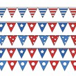 Freedom celebration flag border elements - 4th of july vector illustration — Stock Vector #30969587