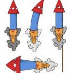 Retro Festive Celebration Firecrackers — Stock Vector #30969671