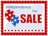 Independence day sale banner — Vector de stock
