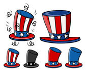 Uncle sam hats set — Vettoriale Stock