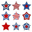 Stars vectors for - 4th of july vector illustration — Stock Vector