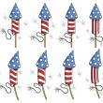 USA Freedom celebration fireworks — Stock Vector #30970629