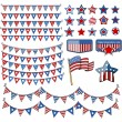Design elements - 4th of july vector illustration — Stock Vector