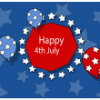 Freedom - 4th of july vector illustration — Stock Vector