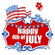 Happy 4th of july background — Stock Vector