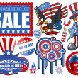 Stock Vector: 4th of July - Vector Designs Set