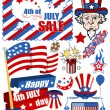 Design elements for 4th of july — Stock Vector