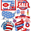 Happy 4th of july vector items — Stockvektor  #30971549