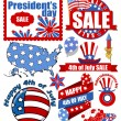 Happy 4th of july vector items — Stock Vector