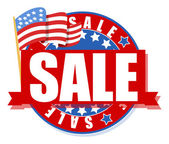 Freedom day sale - 4th of july vector illustration — Stock Vector