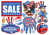 4th of July - Vector Designs Set — Stock Vector