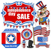 Independence day - 4th of July - Vector Designs Set — Stock Vector