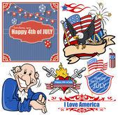USA Patriotic designs vector set — Stock Vector