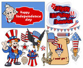 Various 4th of july vector designs set — Stock Vector