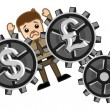 Постер, плакат: Currency Exchange Loss Business Cartoons Vectors
