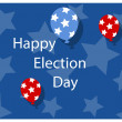 Stock Vector: Happy election day background