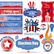 Election Day Vector Illustration Set — Grafika wektorowa