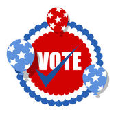 Vote - Election Day Vector Illustration badge — Stock Vector