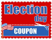 Election day sale coupon vector — Vector de stock