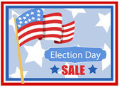 Election day sale background for America — Stock Vector
