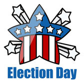 USA theme - Democracy - Election Day Vector Illustration — Stock Vector