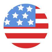 USA Flag design in circle - Vector Illustration — Stock Vector