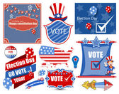 USA Election Day Vector Illustration Set — Vettoriale Stock