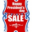Sale on Presidents Day Vector Banner Illustration — Stock Vector