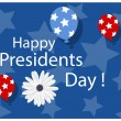 Happy Presidents Day — Stock Vector