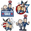 Постер, плакат: Washington & Lincoln Presidents Day Cartoons and Clip Art