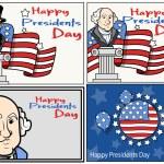 United States National Holidays - Presidents Day - Washington Birthday - Vector Set — Stock Vector #31147907