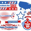 Presidents Day Vector Set — Stock Vector
