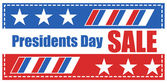 Presidents Day Sale Banner Vector Illustration — Vettoriale Stock