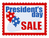 Sale Background - Presidents Day Vector — Stock Vector