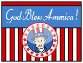 God Bless America - Uncle Sam - Background Vector — Stock Vector