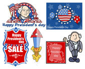 Presidents Day Vector Illustration Set — Vettoriale Stock