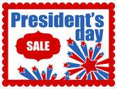 President's Day Vector Banner — Stock Vector