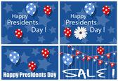 Glücklich präsidenten tag verkauf hintergründe — Stockvektor
