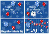 Happy Presidents Day Sale Backgrounds — Stock Vector