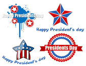 Happy Presidents Day Vector Design — Stockvektor