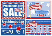 Presidents Day Sale Banner and Backgrounds — Stock Vector