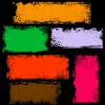 Dirty Grunge Edges Banner Box Vectors — Stock Vector