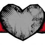 Grungy Heart Vector Banner — Stock Vector #31238241