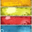 Colorful Grunge Vector Banner Backgrounds — Stock Vector