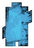Rusty Grunge Banner Frame Vector — Stock Vector
